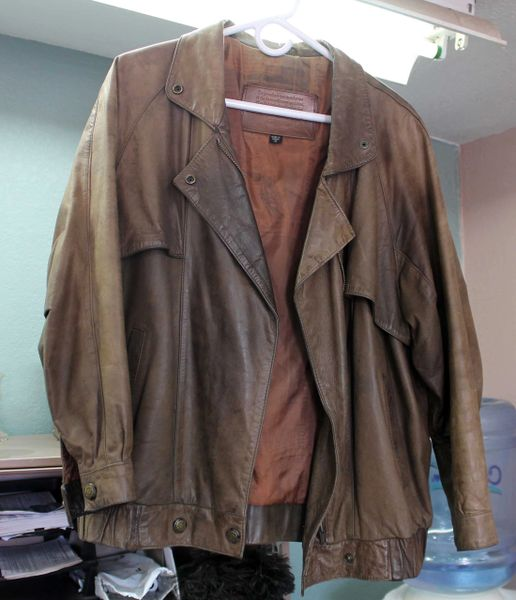 Express Small Brown Leather Jacket