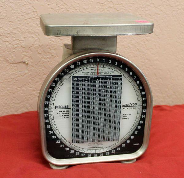 Pelouze Y50 50lb x 2oz Postal Scale