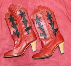 Dingo Red Cowgirl Boots--size 6 1/2