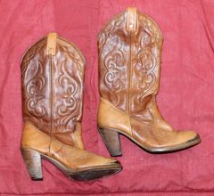 Acme Brown Cowgirl Boots--Size 13D