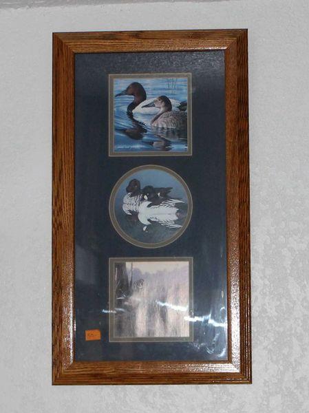 Ducks Trio Wood Framed Prints