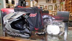 LIKE NEW Icon Variant Salvo Motocross Helmet-small ( Silver )