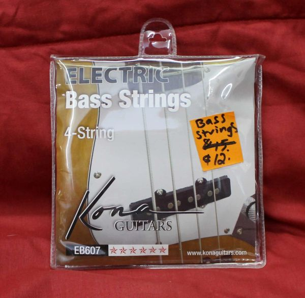 Kona Electric Bass Guitar Strings-4 String EB607