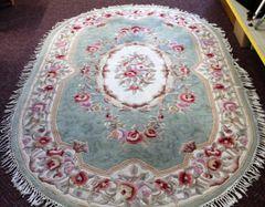 Royal Palace Handmade Oval Area Rug Carpet