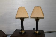 "Pair 27"" Side Table Desk LAMPS"