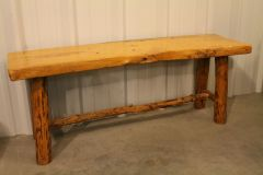 Wormwood Log Bench 5ft