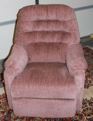 SMALL SIZE ROSE COLOR ROCKER RECLINER