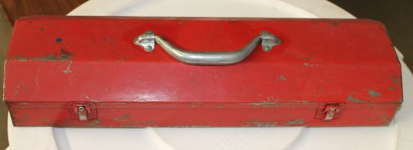 Small Red Metal Toolbox