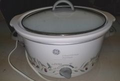 GE 5 QT Oval Crock Pot & Insulated Carrier