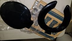 Olsonite Black Plastic Toilet Seat New Unused
