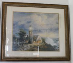 """A Light In The Storm"" Framed Picture by Thomas Kinkade w/ Certificate of Authenticity"