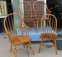 4 Ethan Allen Maple Chairs