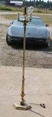 Stiffel Brass Floor Lamp Without Glass Shade