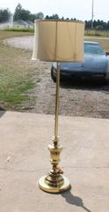 Heavy Base Brass Floor Lamp w/ Shade