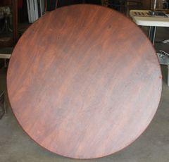 "Samsonite 40"" Round Brown Folding Table"