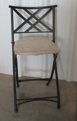Folding Metal w/ Micro Suede Pad Chair