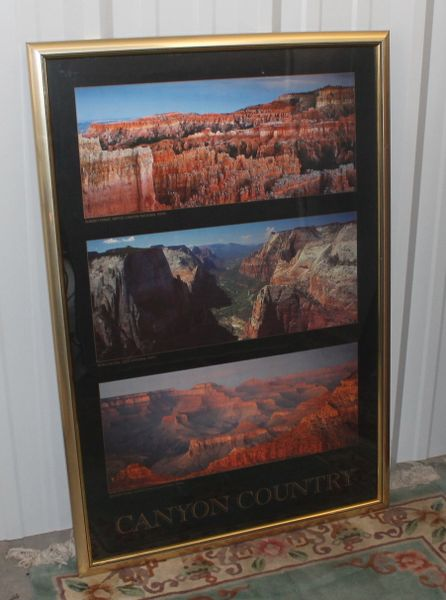 Mather Point Grand Canyon Nationa Park Framed Poster