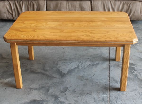 Oak Coffee Table w/Trim