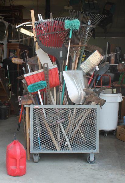 Selection of Hand / Yard Tools, Axes, Picks, Shovels