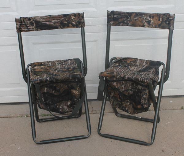 Aluminum Frame Camo Fold Up Chairs w/ Zippered Storage