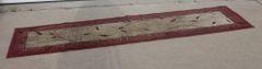 Reddish with Tan Runner Carpet / Rug