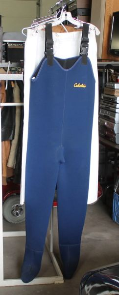 Cabella's Blue Neoprene Chest Waders