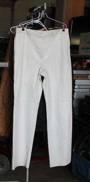 White Leather Ladies Pants