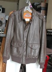 Cooper Type AZ - Brown Leather Bomber Jacket