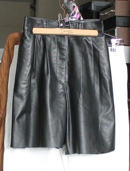 Bagatelle Black Leather Cut Off Shorts-Size 4
