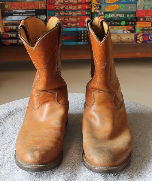 Justin Brown Low Heel Boot-11 1/2 D