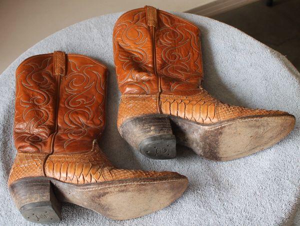 Dan Post Brown w/ Snake Skin? Cowboy Boots-no size