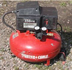 Porter Cable Air Compressor-150 Max PSI-6 Gallon