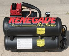 Thomas Air Compressor Renegade T-200ST 13 Amp 2-Horsepower 4-Gallon Oil-Free Twin Hot Dog Air Compressor