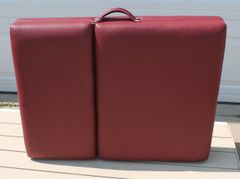Burgundy Portable Massage Table by Body Choice w/ Head Lift