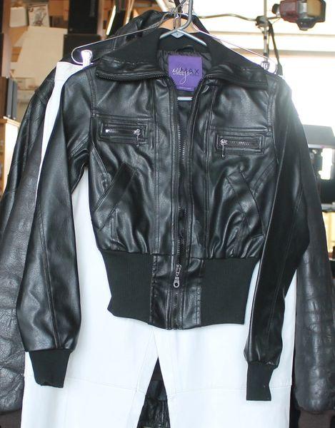 Miley Cyrus Max Azria Black Crop Jacket-XS & M