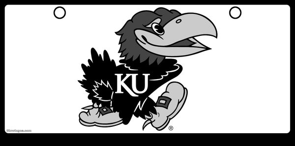 Jayhawk Gray Scale on White