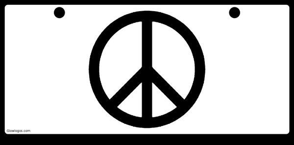 Peace Symbol Black on White