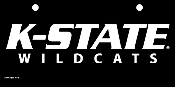 K-State Wildcats White on Black