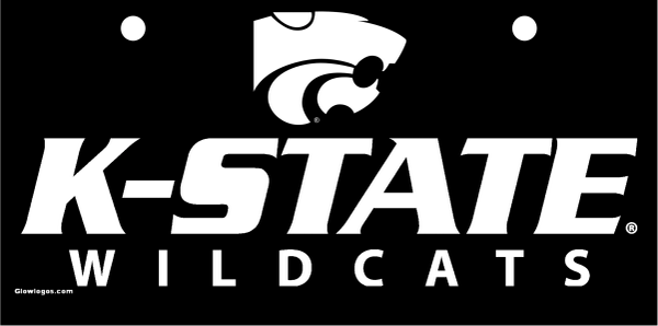 K-State Wildcats White on Black with Powercat
