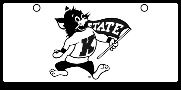 Kansas State Willie the Wildcat Black on White