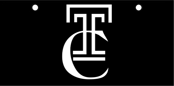 "Trinity Catholic ""TC"" White on Black"
