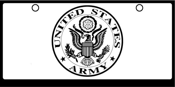 US Army Seal Black on White