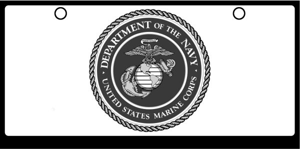 US Marine Corps Seal Grayscale On White