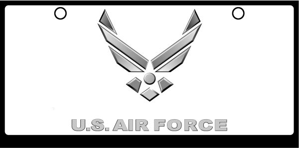 US Air Force Wings Logo Grayscale on White