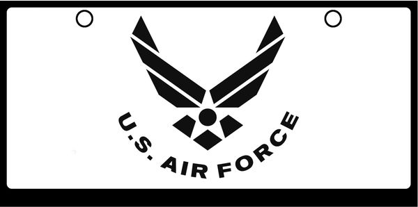 US Air Force Wings Logos Black on White