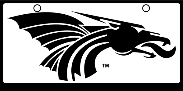 Hutchinson Community College Power Dragon Black on White
