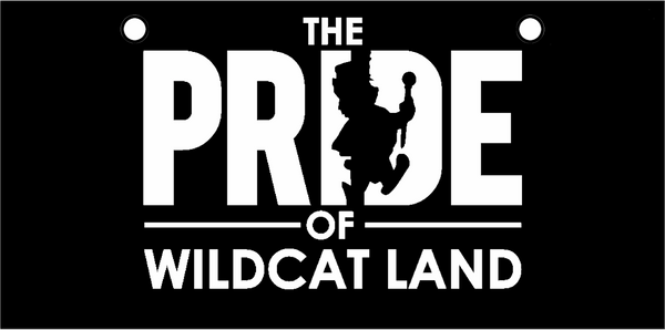 KSU BAND Pride of Wildcat Land White on Black