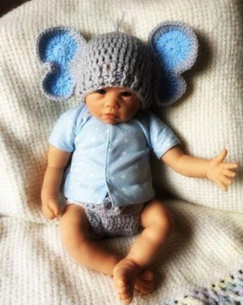 2020 Lovely Newborn Elephant Costume,Handmade Knit Crochet Baby ... | 600x478