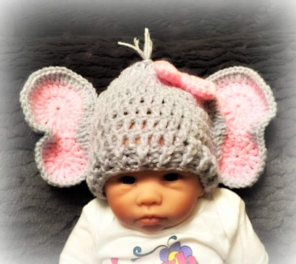 Ravelry: Elephant Hat and Diaper Cover for Boy or Girl pattern by ... | 535x600