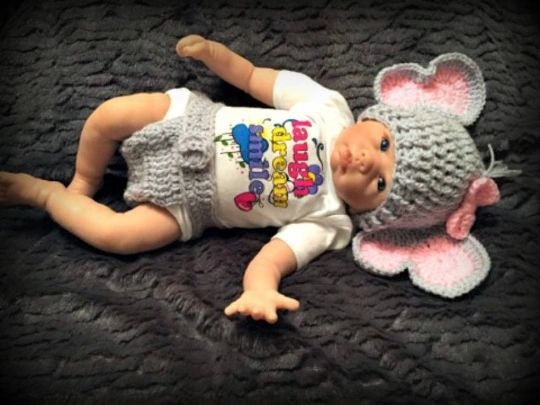 Jeffery Jr the Elephant Hat and Diaper Cover Baby Set PDF Crochet ... | 405x540